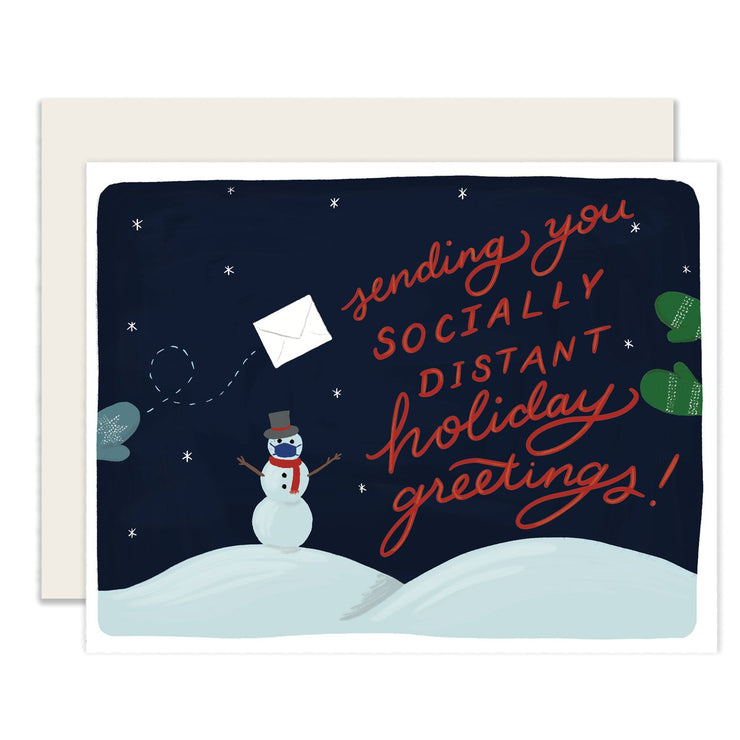 socially distant holiday greetings - single or set of 6