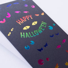 spooky eyes card