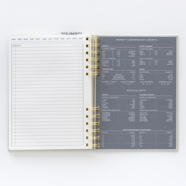 black standard issue - hardcover twin wire undated planner