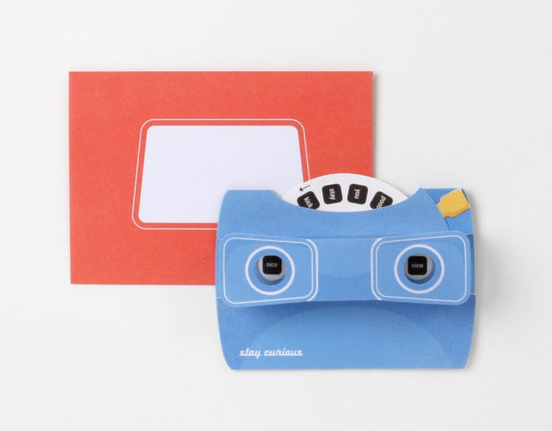 stay curious view finder pop-up card