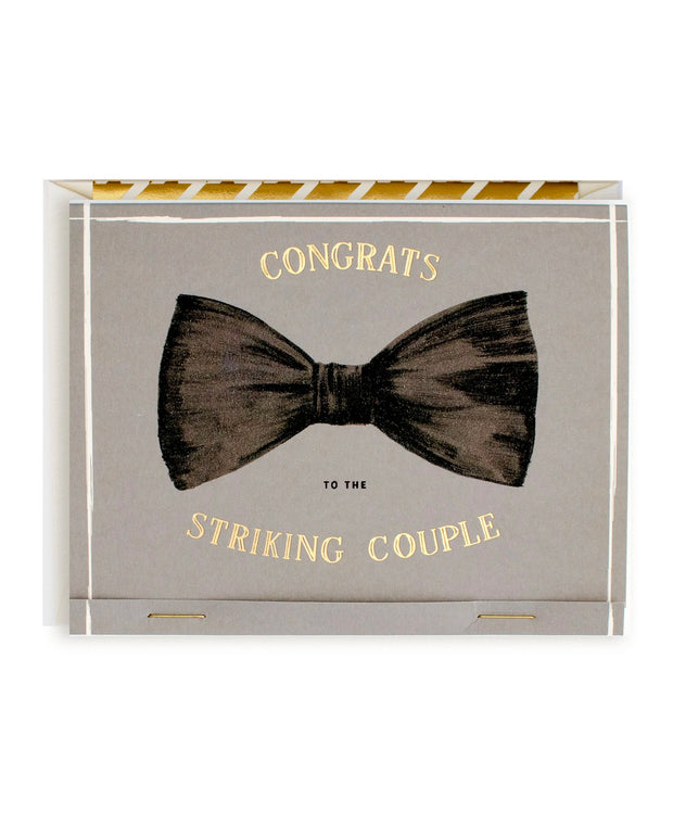 striking couple wedding card