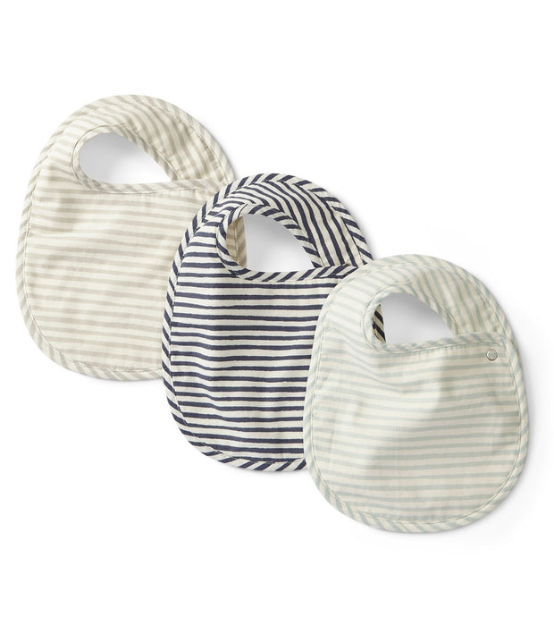 stripes away 3pc bib set - sea
