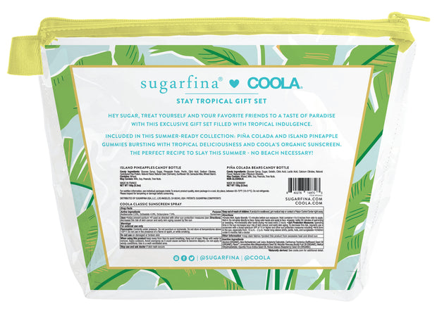 sugarfina + coola stay tropical gummies & sunscreen set