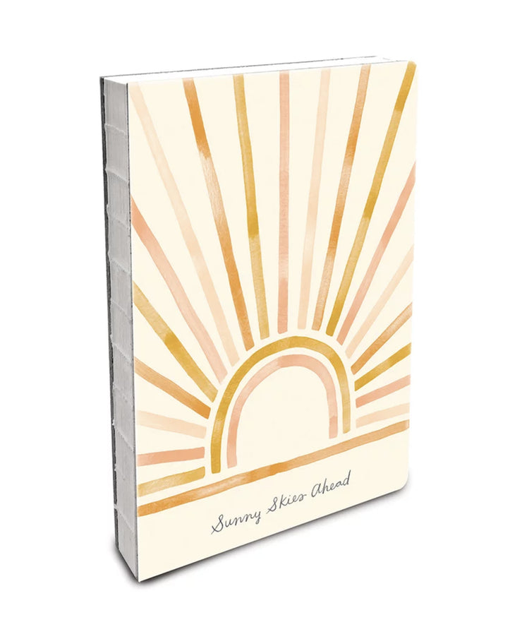 deconstructed lined journal - sunny skies ahead