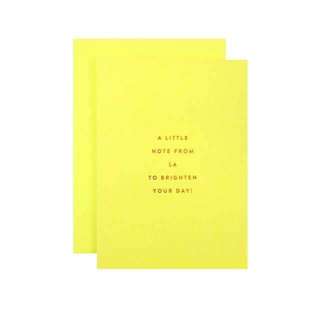 sunny note from LA greeting card