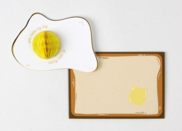 sunny side up pop-up love card