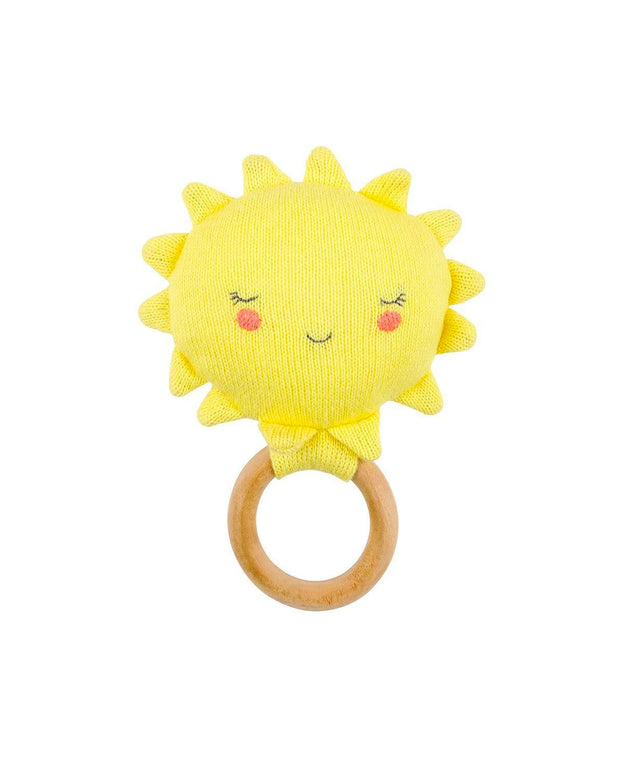 organic cotton sun rattle
