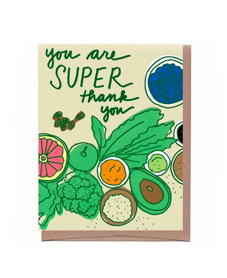 superfood thank you card