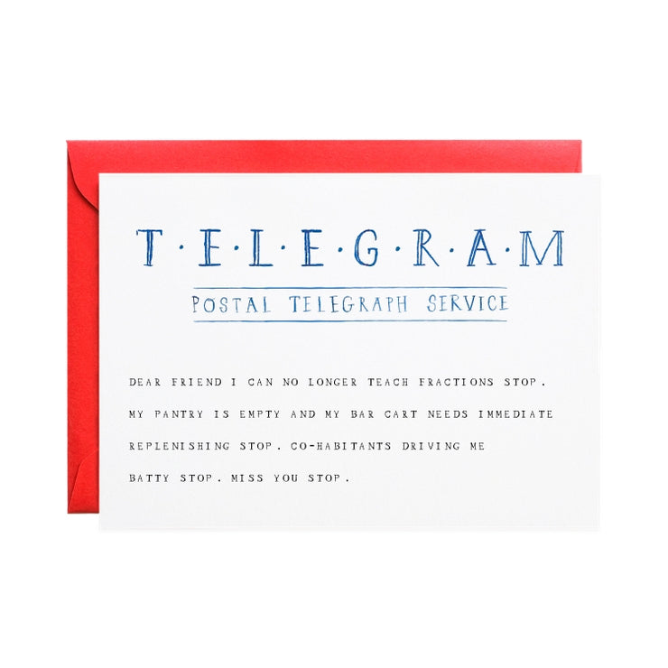 miss you telegram stop card
