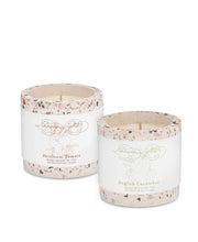 terrazzo pot 5oz candles - heirloom tomato & english cucumber
