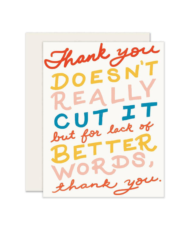 no better words thank you card - single or set of 6