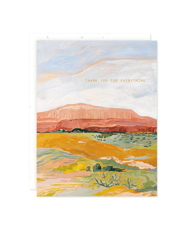 red rock desert thank you card