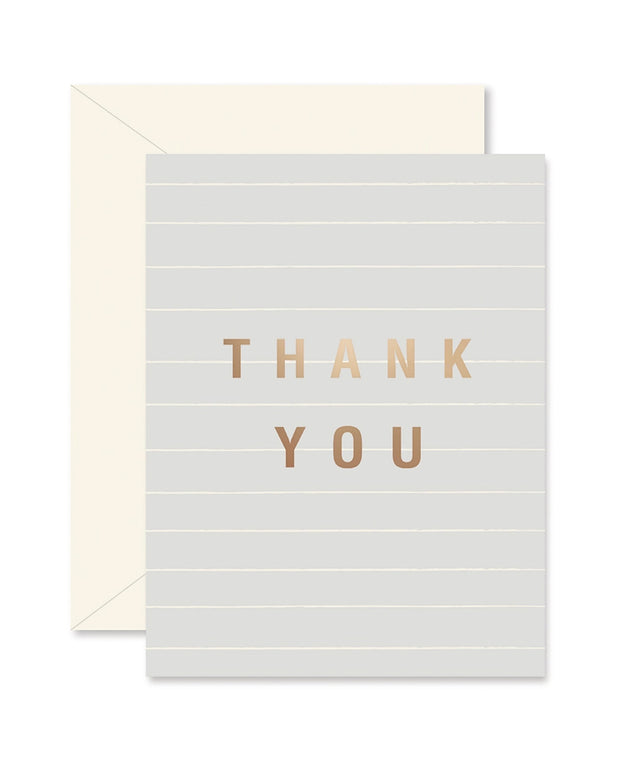 gray lines thank you cards - single card or set of 8