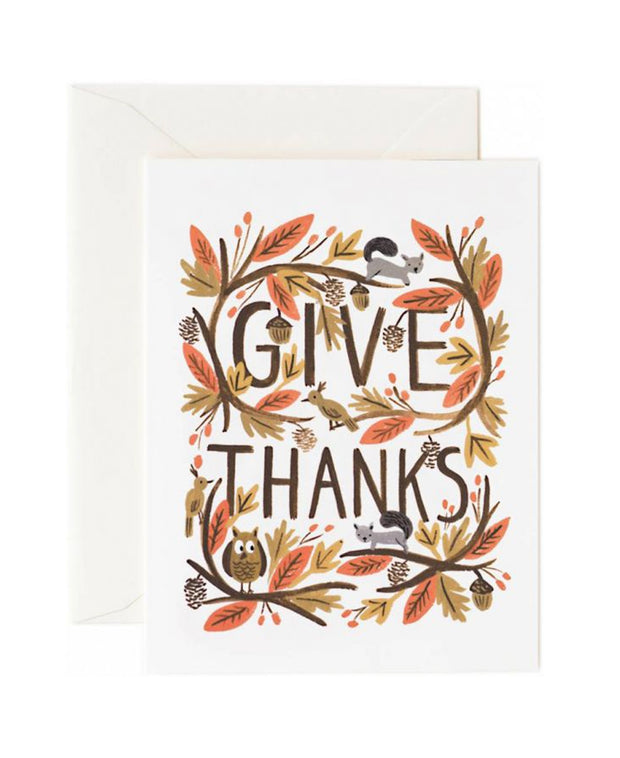 thankful forest card
