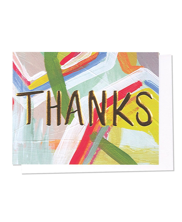 thanks embossed gold foil card