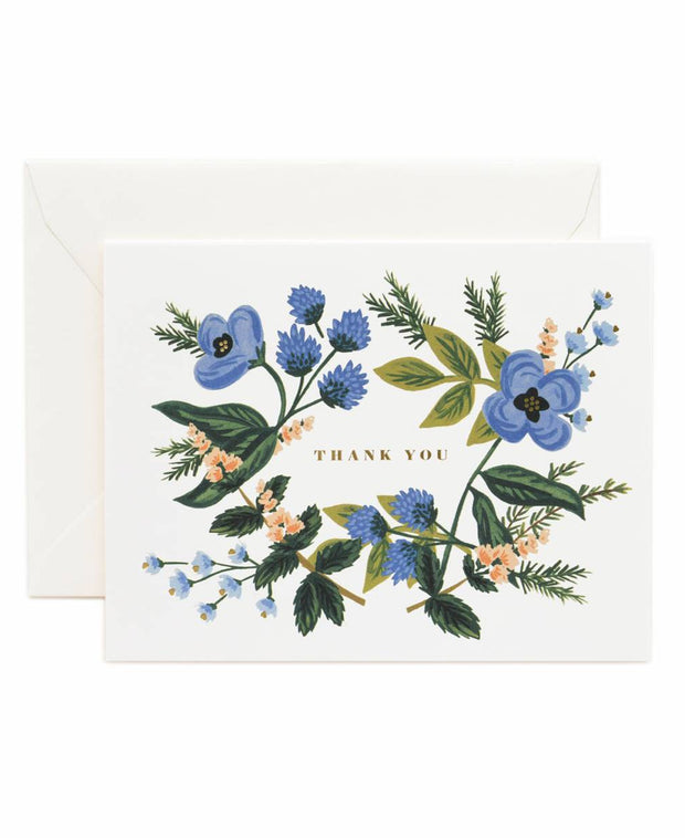 thank you bouquet card - single or set of 8