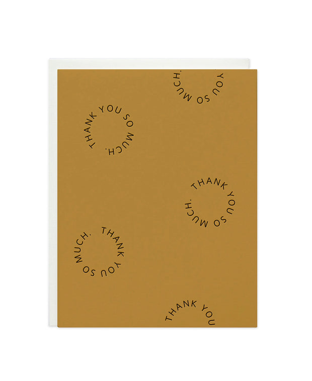 thank you go-rounds card - single or set of 6