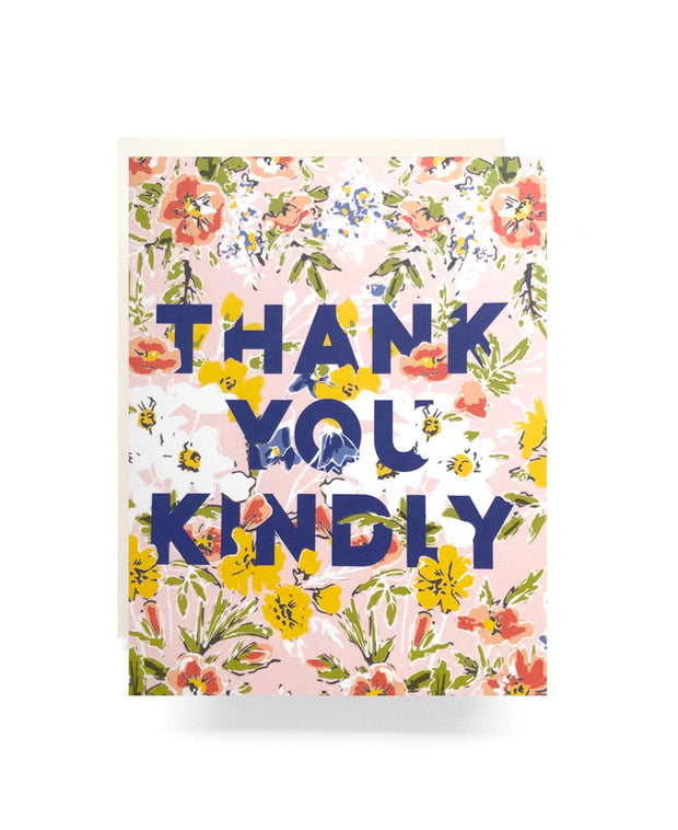 amelia thank you kindly card - single or boxed set of 6
