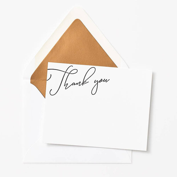 luxe stationery thank you cards - set of 10