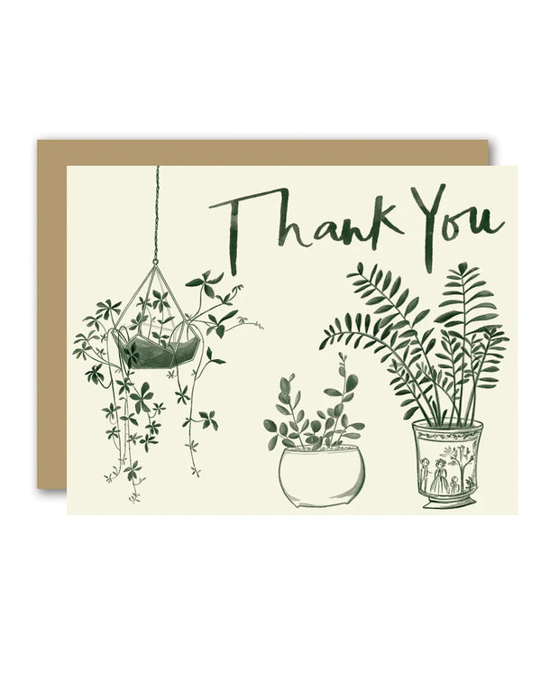 thank you house plants cards - set of 8