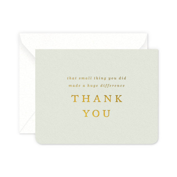 small thing thank you card