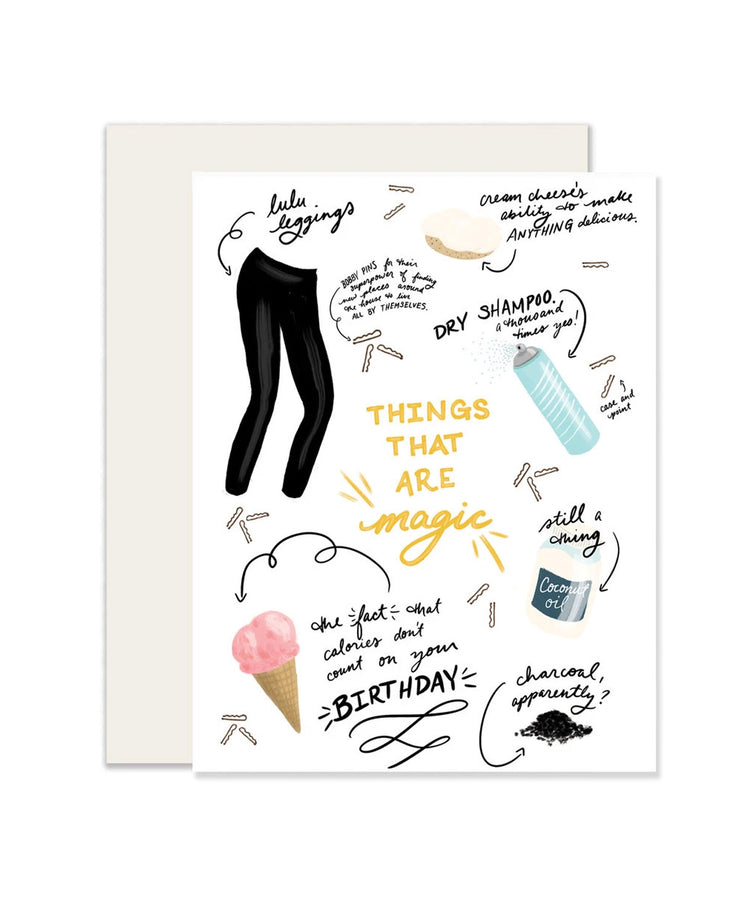 magic things birthday card