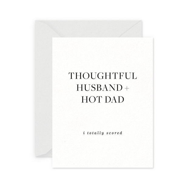 Thoughtful Husband hot dad card