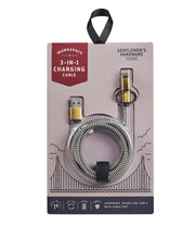 3-in-1 charging cable - cream + black