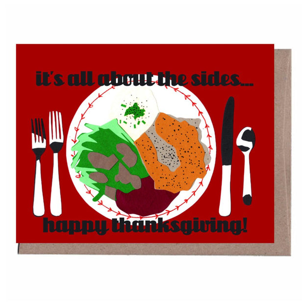 sides thanksgiving card