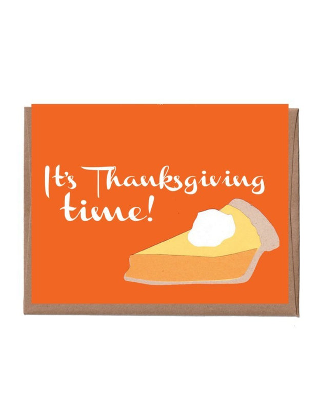 pumpkin pie thanksgiving card