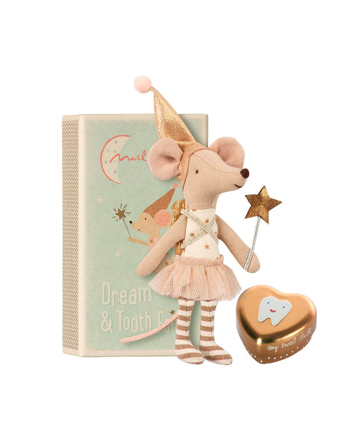 tooth fairy big sister mouse w metal box
