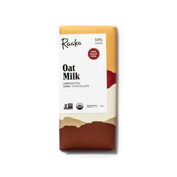 58% oat milk organic chocolate bar