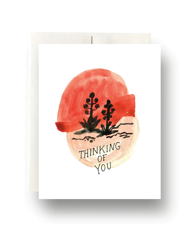 agave sunset thinking of you card