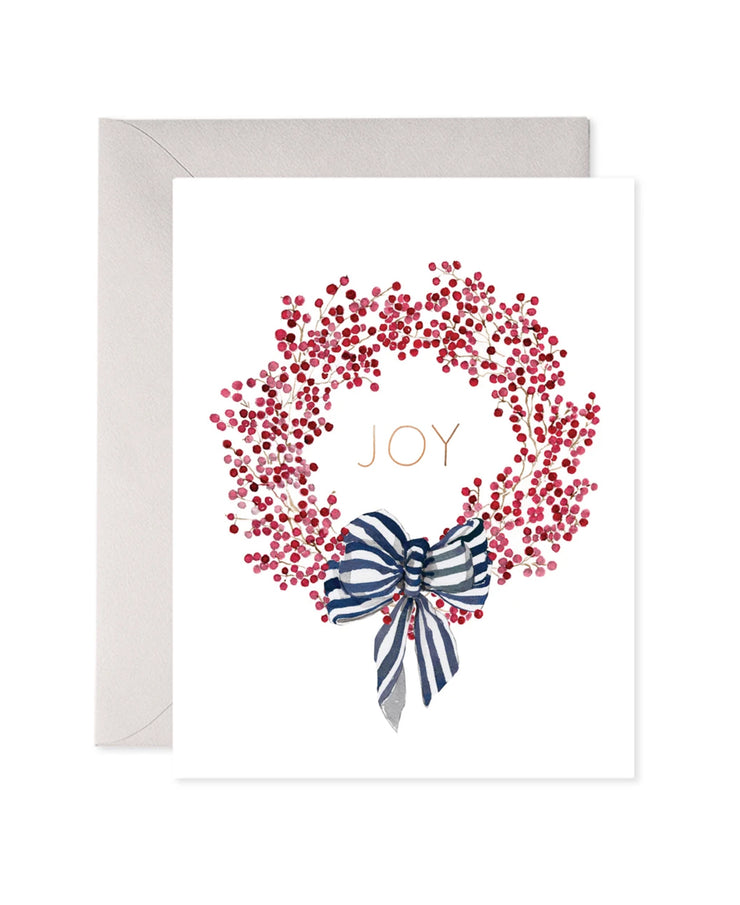 red berry wreath card set