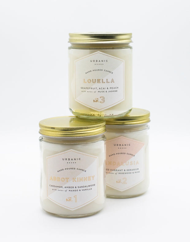 urbanic signature hand poured candles - 4 oz & 16 oz