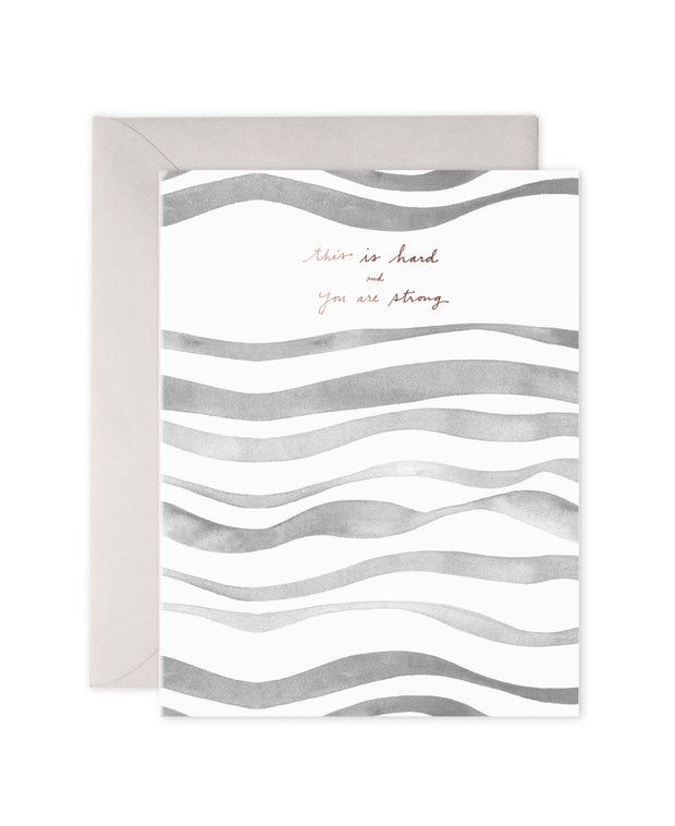 grey waves sympathy & encouragement card