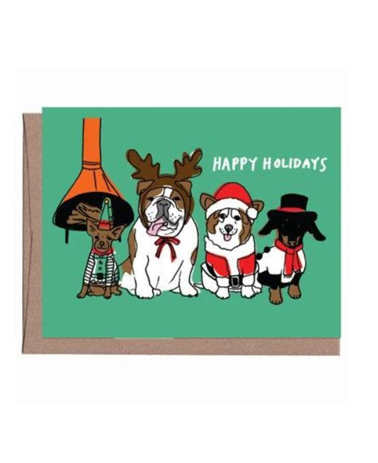 vintage dogs holiday cards - set of 8