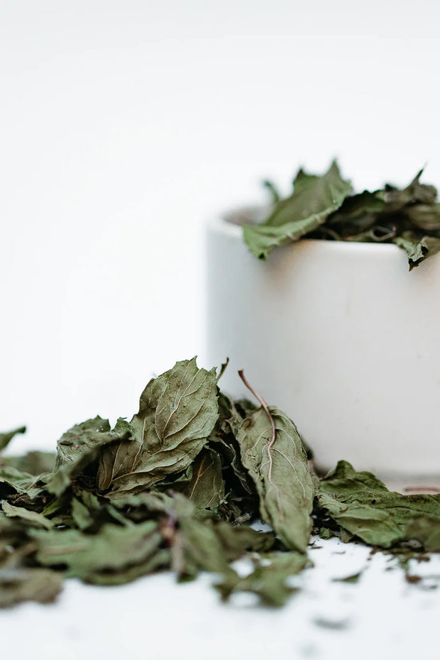 nordic peppermint tea - aromatic, whole loose leaves