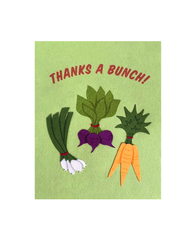 thanks a veggie bunch card