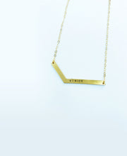 brass stick necklace - venice