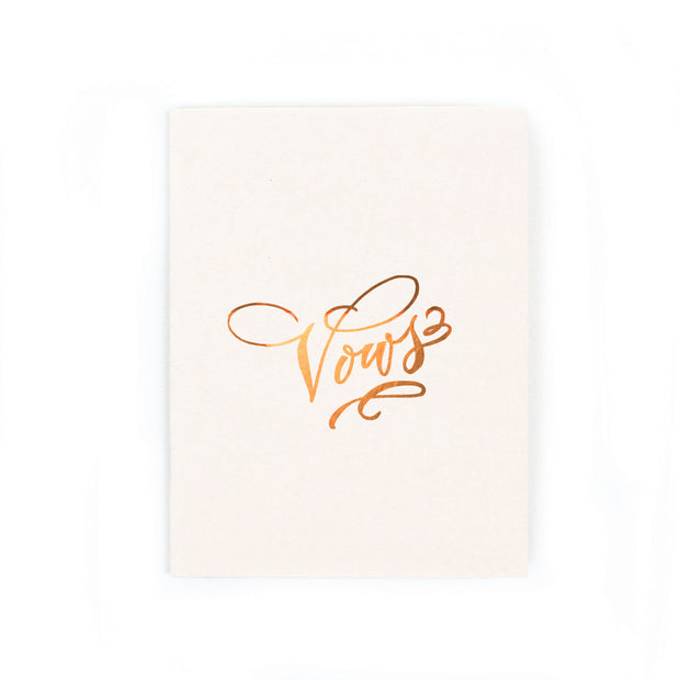 vows gold foil notebook