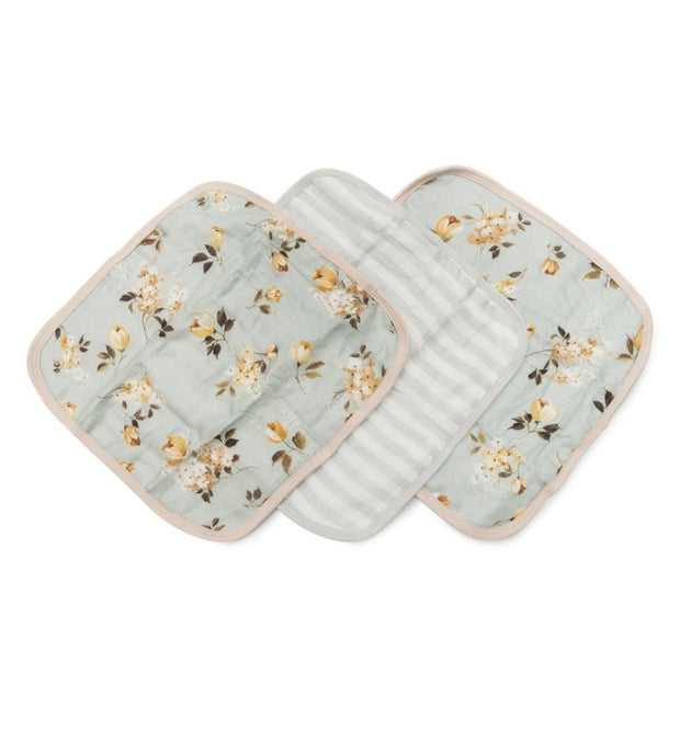 baby washcloths 3 piece set - wild rose