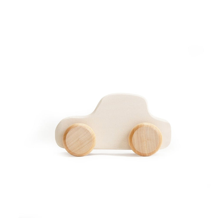 wood toy cars - various colors