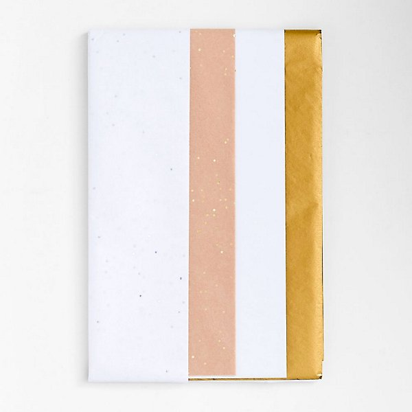 white and gold tissue paper
