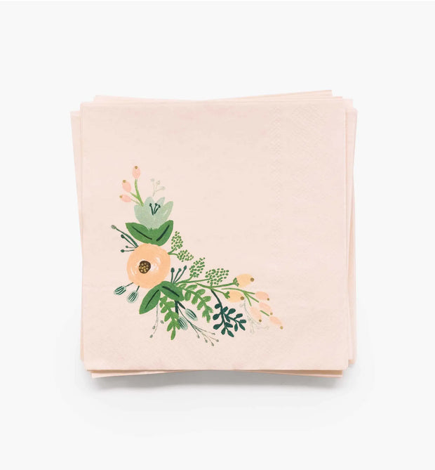 wildflower cocktail napkins - 20 pack