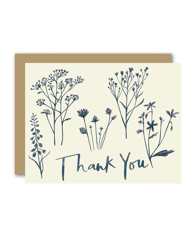 wildflowers thank you cards - set of 8