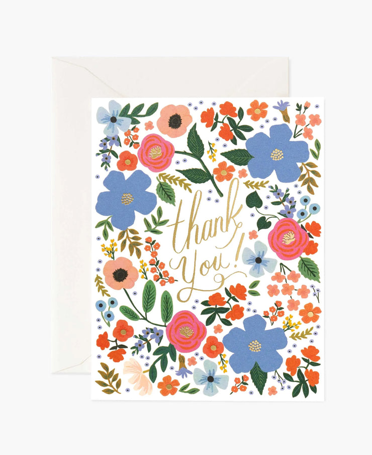 wild rose thank you card - single or set of 8