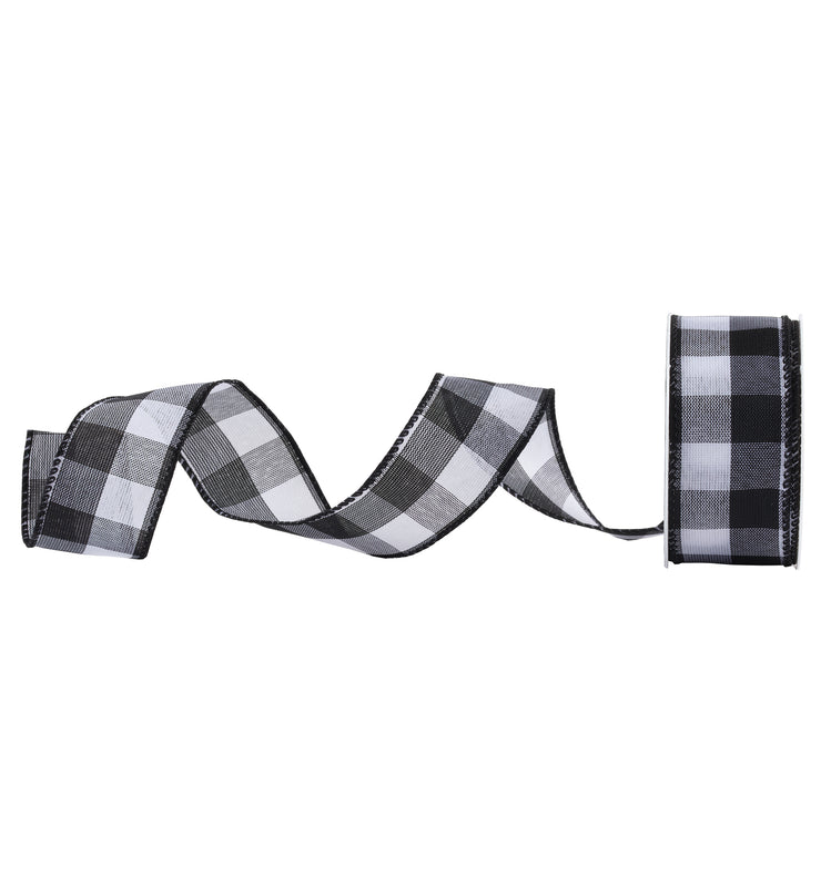 wired buffalo check ribbon