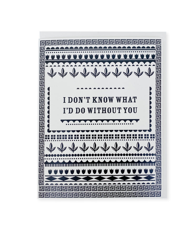without you pattern card
