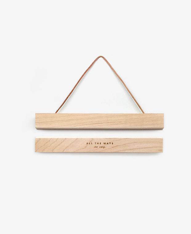 wooden magnetic hanger frame - small